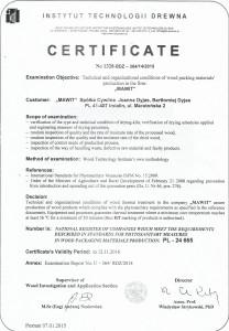Certyfikat fito eng