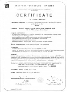 Certyfikat fito pl